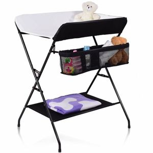 Baby Storage Folding Diaper Changing Table-Black for Sale in City of Industry, CA