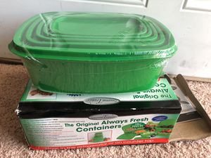 Brand New 10 pieces storage containers as advertised on TV for Sale in Norfolk, VA