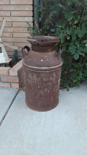 Vintage metal milk container for Sale in Riverside, CA