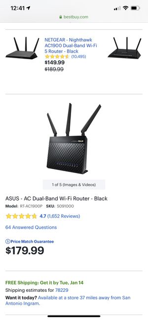 Asus gaming router for Sale in San Antonio, TX