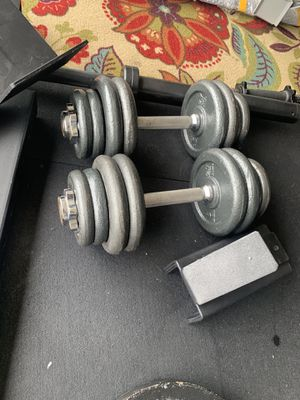 adjustable dumbbell pair 40 for Sale in Houston, TX