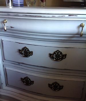 Large Nightstand Chest End Table Dresser shabby chic white CLEAN INSIDE for Sale in San Diego, CA