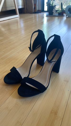 size 11 woman's heels black suede for Sale in San Diego, CA