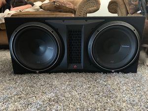 Rockford Fosgate Punch P2-2X12 Subwoofers + Rockford Fosgate R1200-1D Amplifier for Sale in Mesa, AZ