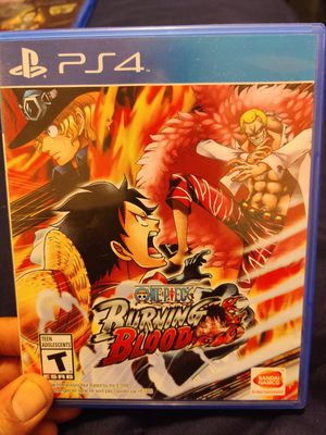 One piece burning blood PS4 for Sale in Tacoma, WA
