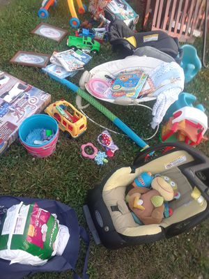 Baby toys books car seats for Sale in Linden, PA