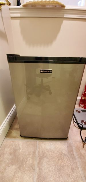 Mini Fridge with Freezer + Temp Control (Black & Grey) for Sale in Bedford, MA