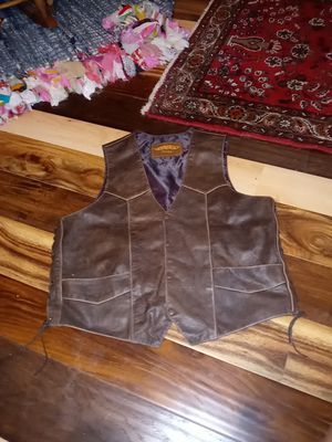Unik Leather Motorcycle Vest for Sale in Houston, TX
