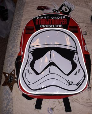 1x Star Wars Stormtrooper Backpack,, Brand New,, Fresh with Tags.. for Sale in Fort Washington, MD