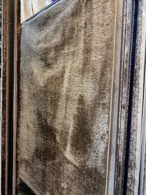 5x8 solid beige soft shaggy rug plain brand new shaggy carpet for Sale in Los Angeles, CA