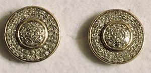 10 karat gold 1kt tdw Earrings in very good condition for Sale in Denver, CO