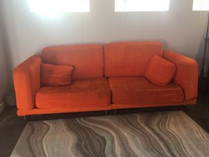 Orange IKEA Couch, smoke and pet free home for Sale in Vista, CA