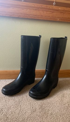 Black rain boots for Sale in Arlington Heights, IL