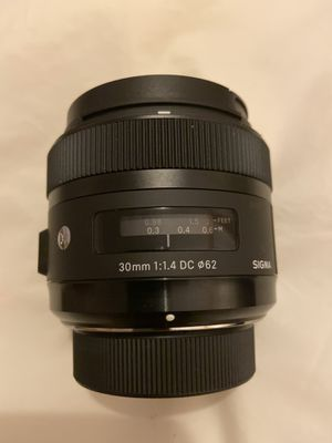 Sigma - 30mm f/1.4 DC HSM A Digital Prime Lens for Select Nikon DSLR Cameras - Black for Sale in Queens, NY