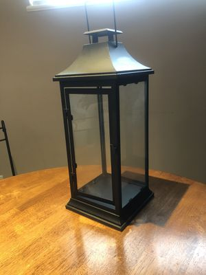Black metal lantern for Sale in Annandale, VA