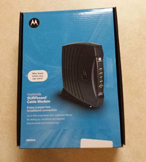 Motorola Surfboard SB5101 Cable Modem for Sale in Grand Prairie, TX
