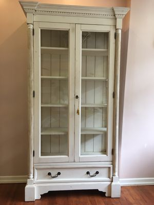 Shabby Chic large Glass Curio Cabinet for Sale in Oakland, CA
