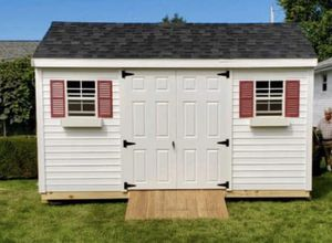 New 10' x 14' White Vinyl A Frame Shed for Sale in Rehoboth, MA