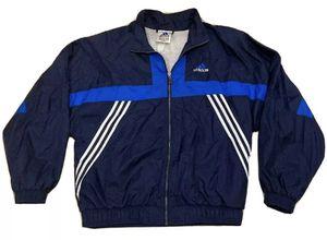 Vintage Adidas Blue Windbreaker Track Jacket Stripe Logo - Mens Large for Sale in Washington, DC