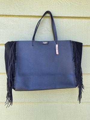 NWT Victoria Secret black leather bag for Sale in Lynnwood, WA