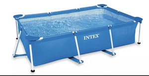 "Intex 86"" x 23"" Rectangular Frame Above Ground Outdoor Swimming Pool for Sale in Columbus, OH"