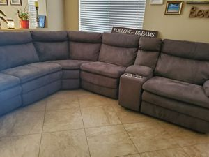 Reclining brown sectional sofa for Sale in Phoenix, AZ