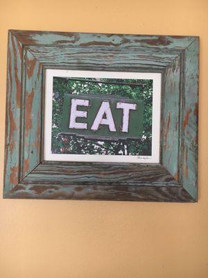 Wooden frame decorative eat kitchen sign for Sale in Pembroke Pines, FL