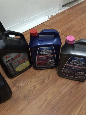 Motor oil anti freeze for Sale in Philadelphia, PA