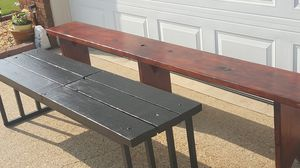 2 Beautiful solid wood benches for Sale in Millbrook, AL
