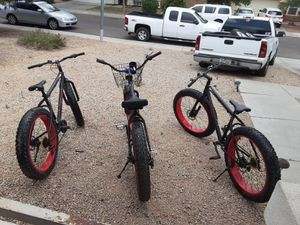 Size 26 fat tire bicicles any offers for Sale in Glendale, AZ