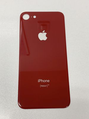 Red iPhone 8 Back Glass Big Hole Part for Sale in Lakewood, CA