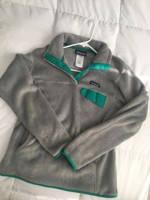 Patagonia grey/turquoise fleece for Sale in Southgate, KY