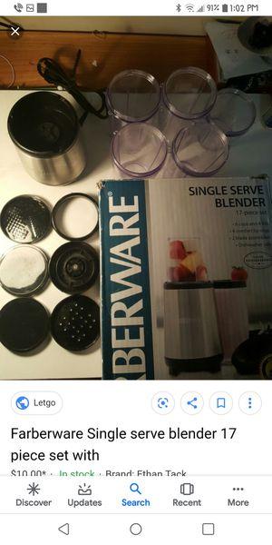 FARBERWARE SINGLE SERVE BLENDER 17 PIECE SET for Sale in Spokane, WA
