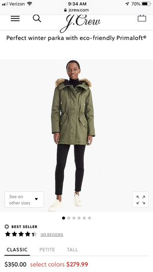J Crew Perfect Winter Parka size Small for Sale in Charlotte, NC