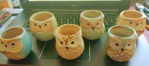 Ceramic owl planters for Sale in Winter Park, FL