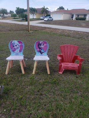 Kids chairs. 5 bucks for all 3 for Sale in North Fort Myers, FL