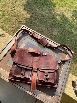 Genuine leather messenger bag for Sale in Bakersfield, CA