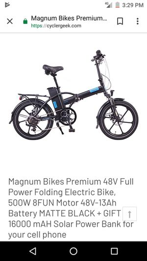 2018 Magna Folding Electric Bike for Sale in Austin, TX