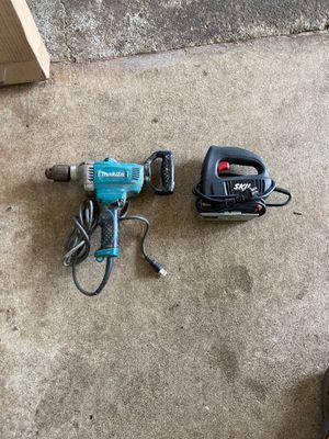 "Makita 1/2"" Spade handle drill and Skil jigsaw for Sale in Waipahu, HI"