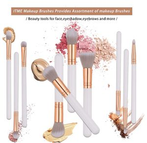 Upgrade Version Premium Makeup Brush Set Synthetic Cosmetics Professional Wooden Handle Brush, Flat Head, Blush, Flame, Concealer, Eye Shadow, Nose, for Sale in Plainfield, NJ