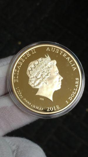 2018 ))- 1/20oz.9999 GOLD PLATED/NOVELTY $ 5 DOLLARS ** ELIZABETH II AUSTRALIA*NIUE*CANADA* YEAR OF THE DOG * D:40MM-29.0 GR.* for Sale in Brooklyn, NY
