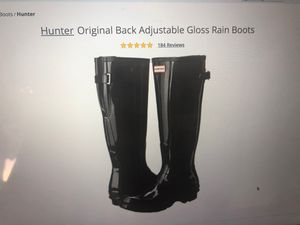Hunter Women's Original Back Adjustable Gloss Rain Boots Size 10 for Sale in Seattle, WA