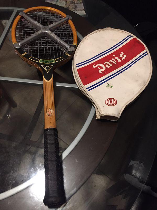 TAD Davis vintage tennis racket