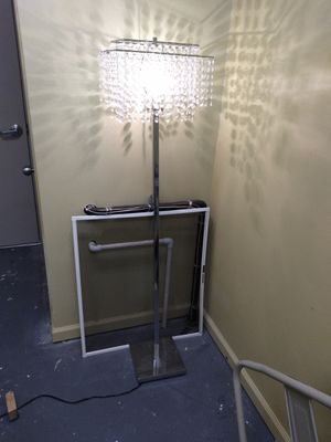 6 ft chandelier crystal lamp for Sale in Binghamton, NY