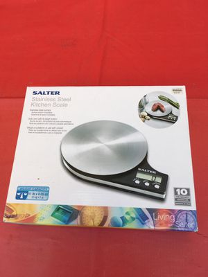 Salter stainless steel kitchen scale for Sale in West Palm Beach, FL
