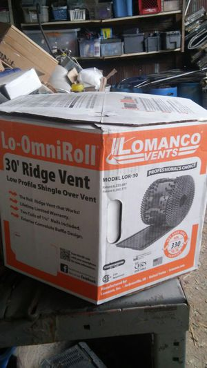 "510 ' Lomanco Lo OmniRoll Ridge Vents 14-1/2"" Black for Sale in Edgerton, MO"