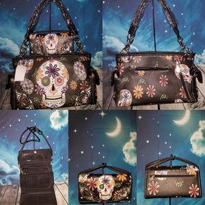 Brand New Sugar Skull Conceal Carry Handbag and wallet set for Sale in UT, US
