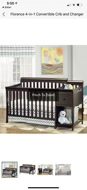 Sorelle Florence 4n1 crib and changing table for Sale in Jonesboro, GA