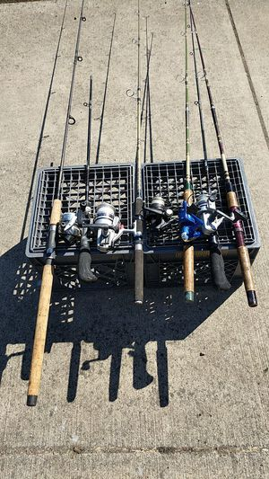 Fishing poles and reels for Sale in Vancouver, WA