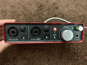 Focusrite Scarlett 2i2 Audio Interface for Sale in Los Angeles, CA